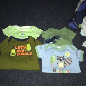 Baby boy short sleeve onesies. 3-9 mos. Never worn